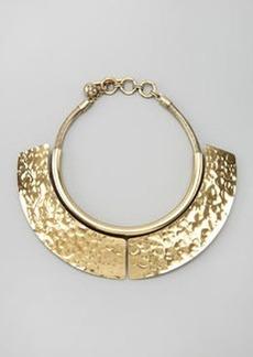 Lanvin Hammered Breastplate Necklace