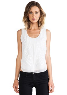 Robert Rodriguez Dandelion Embroidery Tank in White