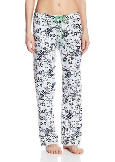 Hue Sleepwear Women's Leopard Flower Slim Fit Pant