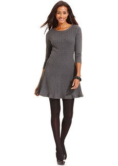 Style&co. Cable-Knit A-Line Sweater Dress