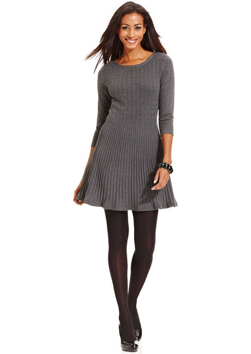 Style Co Style Co Cable Knit A Line Sweater Dress Dresses Shop It To Me