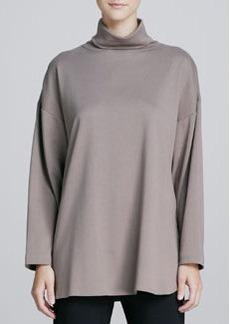 Joan Vass Oso Oversized Turtleneck Tunic, One Size