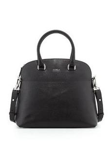 Furla Victoria Saffiano Dome Satchel Bag, Onyx