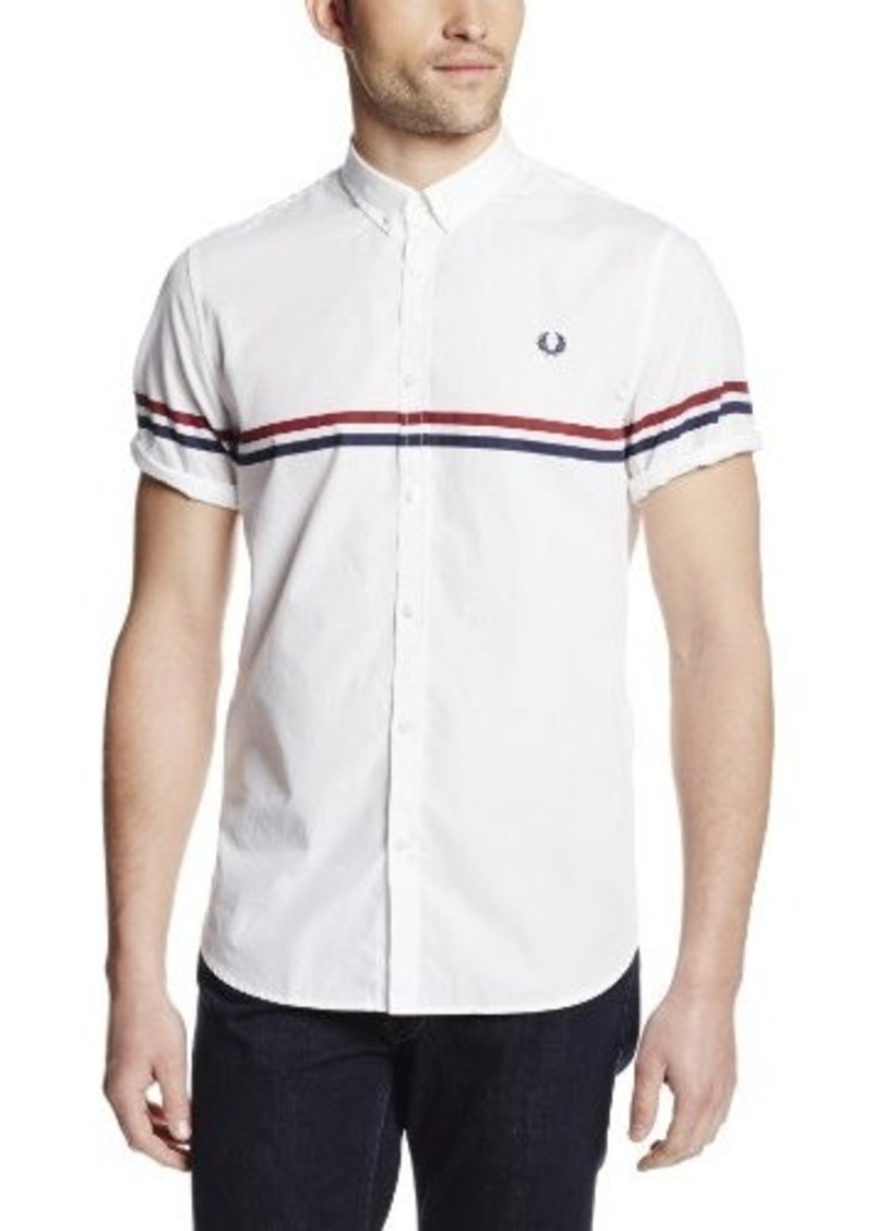Fred perry fred perry men 39 s tipped two tone shirt casual for Fred perry mens shirts sale