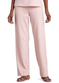 Joan Vass Interlock Stretch Pants, Women's