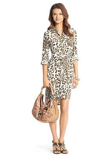 Prita Printed Silk Shirt Dress