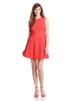 Cynthia Steffe Women's Hailey Floral Eyelet Fit-and-Flare Dress