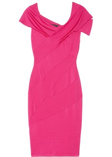 Donna Karan Draped stretch-sateen jersey dress