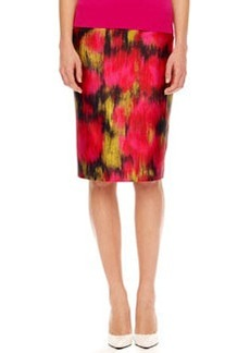 Michael Kors Printed Shantung Pencil Skirt