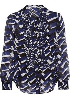 Diane von Furstenberg Esmely printed silk-chiffon blouse