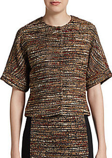 Lafayette 148 New York Cropped Tweed Jacket