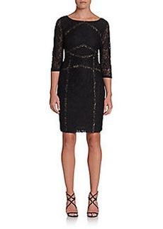Calvin Klein Floral Lace Cocktail Dress
