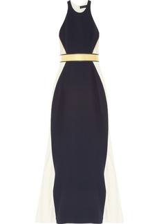 Stella McCartney Saskia stretch-cady and mesh gown