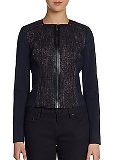 Elie Tahari Monroe Tweed Combo Jacket
