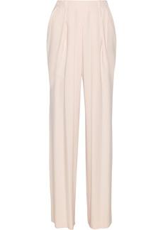 Chloé Pleated crepe straight-leg pants
