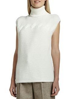 Lafayette 148 New York Cap-Sleeve Turtleneck Sweater