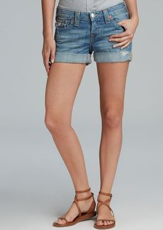 True Religion Shorts - Jayde Boyfriend with Flap Pocket in Wagoneer