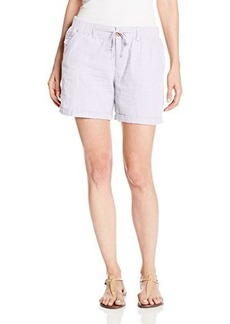 Democracy Women's 5 Inseam Double-Faced Gauze Short with Drawsting Belt