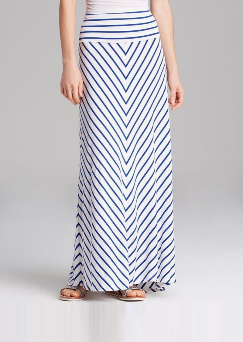 calvin klein calvin klein striped maxi skirt skirts