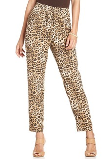 Charter Club Animal-Print Soft Pants