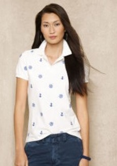 Skinny-Fit Embroidered Polo