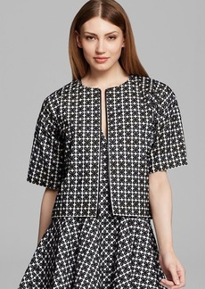 DKNY Elbow Sleeve Boxy Jacket