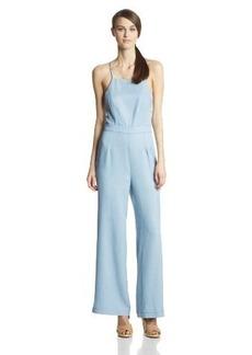 Dolce Vita Women's Lolia Chambray Backless Jumpsuit