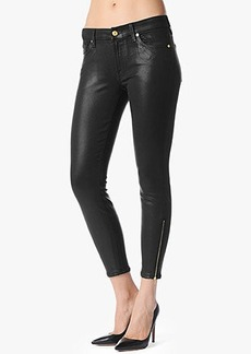 """The Side Zip Ankle Skinny in High Gloss Black (28"""" Inseam)"""