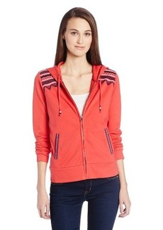 Lucky Brand Women's Embroidered Zip Hoodie