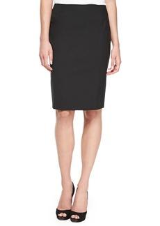 Escada Pencil Skirt with Slit, Black