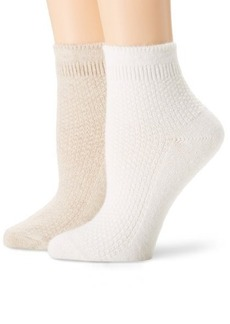 Jones New York Women's 2 Pair Pack Angora Popcorn Texture Socks