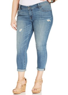 Lucky Brand Plus Size The Weekender Cropped Distressed Jeans, Ocotillo Wash