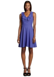Marc New York violet ruffled sleeveless flounce dress