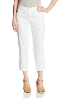 Jones New York Women's Cropped Slim Leg Welt Pocket Pant