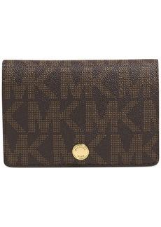 MICHAEL Michael Kors MK Signature Saffiano Medium Slim Wallet