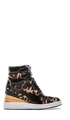 Puma by Mihara MY-77 Leopard Sneaker in Brown