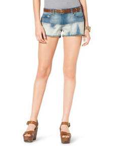 MICHAEL Michael Kors Mixed-Denim Cutoff Shorts