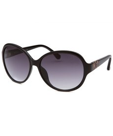 Michael By Michael Kors Women's Morgan Round Black Sunglasses