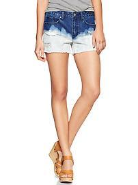 1969 bleached destructed maddie denim shorts