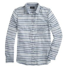 Boy shirt in stripe gauze
