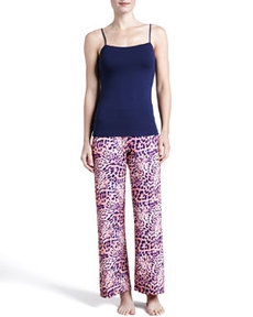 Cosabella Vindemia Animal-Print Pants, Bellini