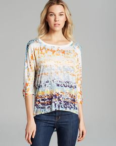 Michael Stars Top - Printed High Low