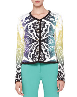 Rainbow Paisley-Print Top   Rainbow Paisley-Print Top