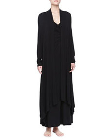 Liquid Jersey Wrap Robe, Black   Liquid Jersey Wrap Robe, Black