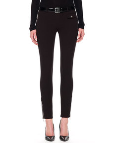 Michael Kors Twill Zip-Pocket Pants, Black