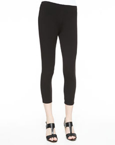 Joan Vass Cropped Leggings, Petite