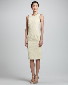 Michael Kors Georgette Sheath Dress, Ivory