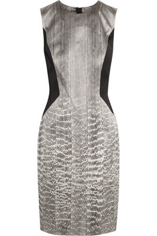 Jason Wu Snake-print silk-satin dress
