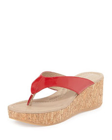 Donald J Pliner Shane Leather Cork Sandal, Red
