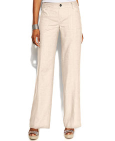 INC International Concepts Curvy-Fit Wide-Leg Linen Pants